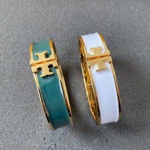 Tory Burch Enamel Glaze Wide Version Bracelet
